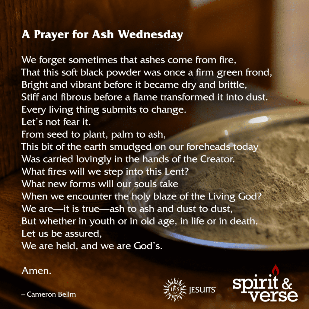 Ash Wednesday prayer