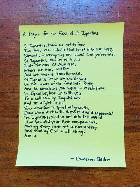 A Prayer for the Feast of St. Ignatius