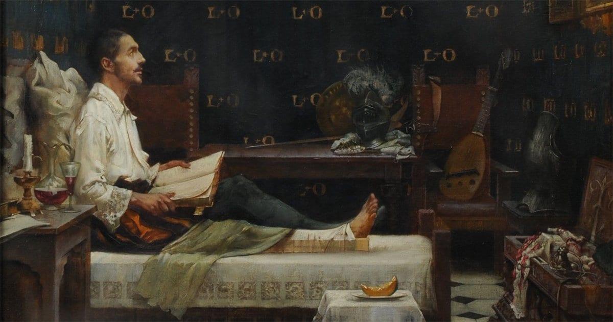 St. Ignatius in bed
