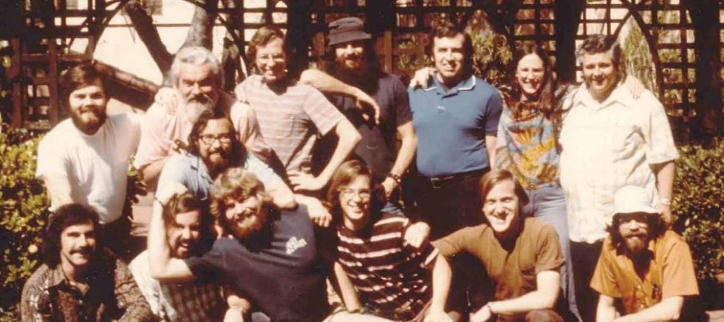 PICO staff and Fr. John Baumann, SJ, in 1974